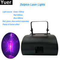 1W RGB Full Color Dolphin Laser Lights Stage Laser Light Professional Club Dancing Laser Show System Disco Party Light DMX512