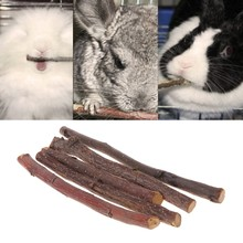 Chew Stick Apple Tree Branch Hamster Squirrel Natural Toys Parrots Rabbits(China)