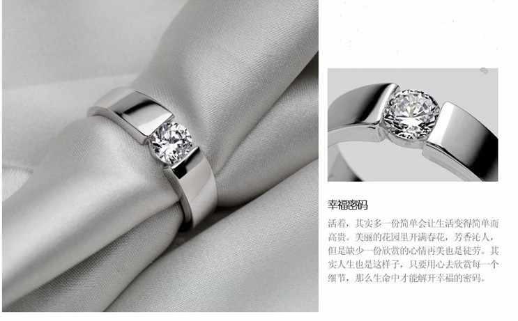 وصل حديثًا خواتم زفاف رجالي من الفضة الإسترليني 925 مصنوعة من الزريكون الزريكون اللامعة الأكثر مبيعًا مجوهرات هدايا ترويجية