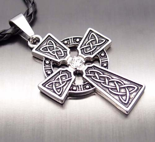 Men women irish celtic knot cz cross new fashion pewter pendant men women irish celtic knot cz cross new fashion pewter pendant with 20 choker necklace mozeypictures Gallery