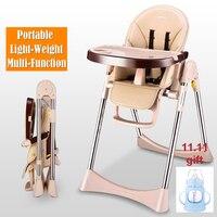 תינוק כיסא אוכל גבוה נוף נייד רב תפקודי קיפול מושב תינוק כיסא שולחן אוכל מושב הגבהה יושב ושוכב