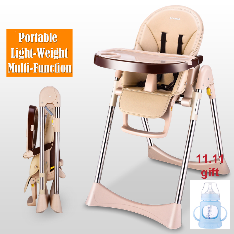 Baby Dining Chair High Landscape Multi-Functional Portable Seat Folding Baby Chair Dining Table Booster Seat Sitting and Lying soft portable baby feed chair gift pillow and rope 4wheels baby booster seat light baby feed chair