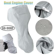 60-90HP 71x76x64 Boat Engine Cover Full Outboard Motor Cover Waterproof Oxford Cloth 3 Color
