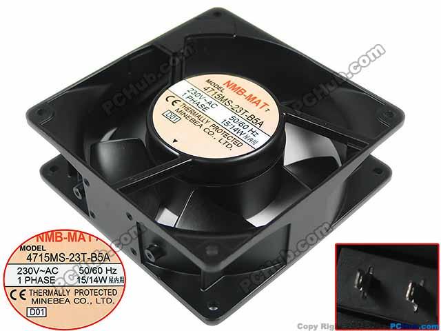 NMB-MAT 4715MS-23T-B5A, D01 AC 230V 15W 120x120x38mm Server Square fan free shipping for nmb 4715ms 23t b5a d01 ac 230v 15w 120x120x38mm server square fan