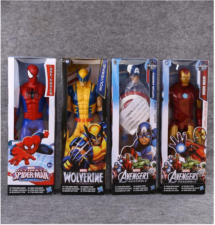 ALEN The Marvel Action AVENGERS Figure Toy Wolverine X-men Spiderman PVC Collectible Titan Hero Series Birthday gift