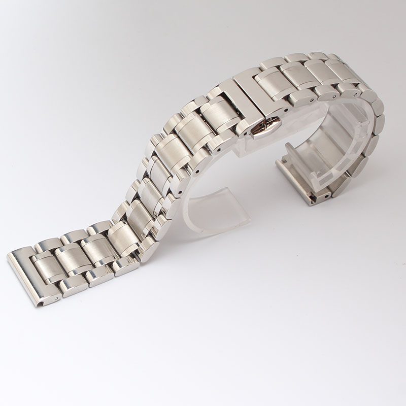 Silver Watchband solid links for brand men s Watches 14mm 15mm 16mm 17mm 18mm 19mm 20mm