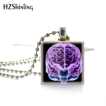 2018 New Fashion Brain Full of Thoughts Scrabble Game Tile Jewelry Necklace Magic Brain Role Pictures Wooden Scrabble Tiles image