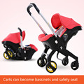 High landscape stroller folded stroller sitting lying Bassinets cradle seat 3 in 1