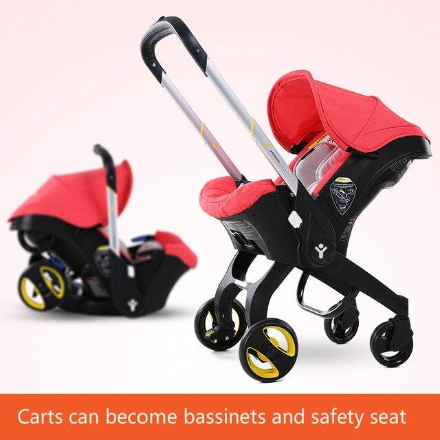 High landscape stroller folded stroller sitting lying Bassinets cradle seat 3 in 1