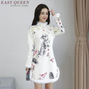Image 1 - Qipao traditional Chinese oriental dress women cheongsam sexy modern Chinese dress qi pao female winter asian dress AA4147