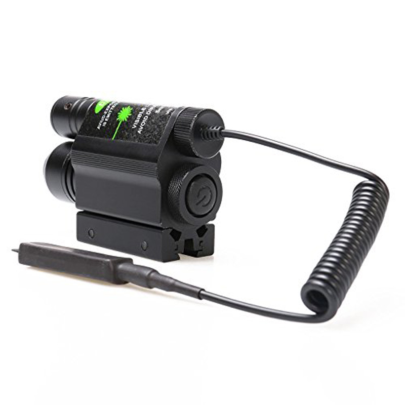 Tactical 2-in-1 Combine CREE Mode Flashlight and Green Laser Sight Gun Pistol for Laser Aim and Positioning Hunting цена