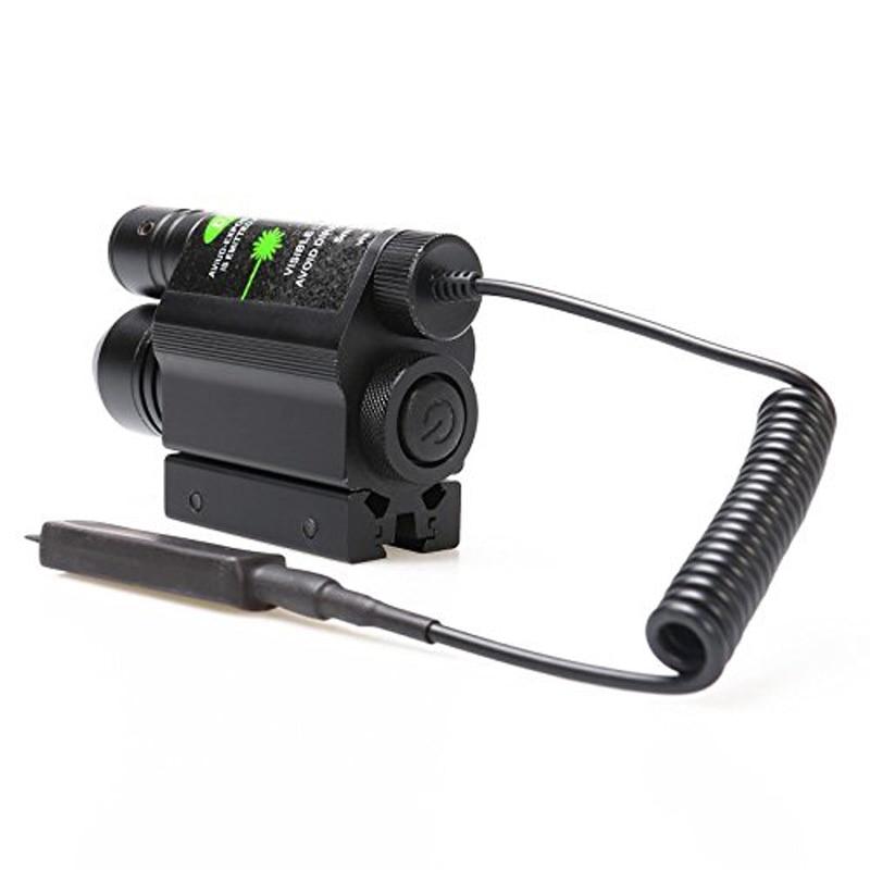 Tactique 2-en-1 Combiner Mode de CRIS lampe de Poche et Laser Vert Sight Gun Pistolet pour Laser But et Positionnement Chasse