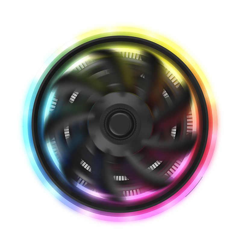 Dark flash الظل برو المبرد برودة PWM CPU التبريد 4pin RGB مسند تبريد للاب توب مدمج به مكبر صوت مروحة اللوحة مزامنة ل إنتل كور i7/i5/AM3/AM4