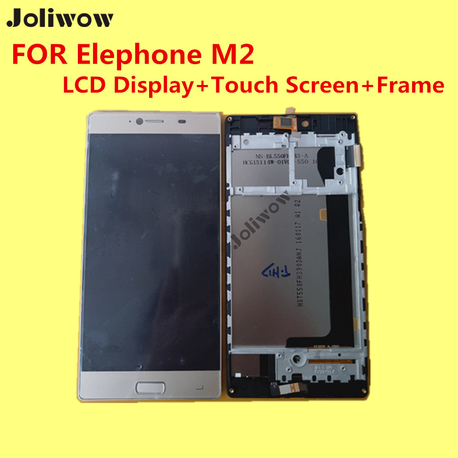 FOR Elephone M2 LCD Display+Touch Screen+Frame+ Tools 100% Original Digitizer Assembly Replacement Accessories For Phone