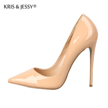High Quality Classical Thin High Heels Women Dress Shoes  8/10/12cm Heels Genuine Leather Women Pumps Party Shoes