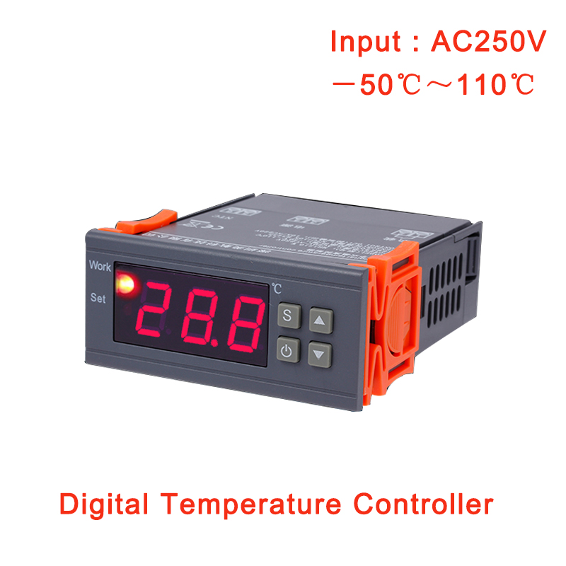 <font><b>MH</b></font>-<font><b>1210W</b></font> Digital Temperature Controller 90V-250V 10A Thermostat Regulator With Sensor -50~100C Heating Cooling Control Best Sell image