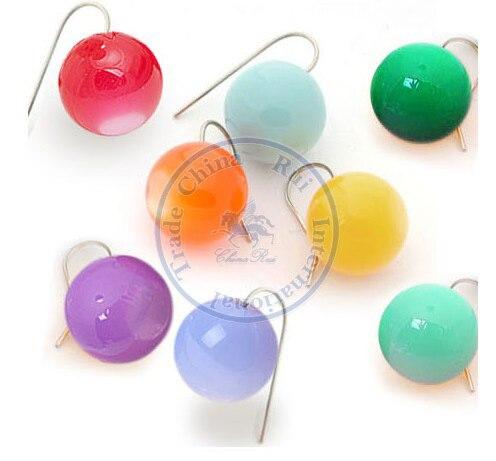 Earrings ear rings Fashion for women Girls lady sweet candy colorful balls desgin CN post