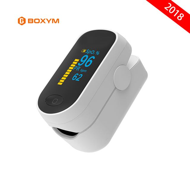 BOXYM Medical Portable Pulse Oximeter OLED Pulsioximetro blood oxygen Heart Rate Monitor Oximetro Household Health Monitors