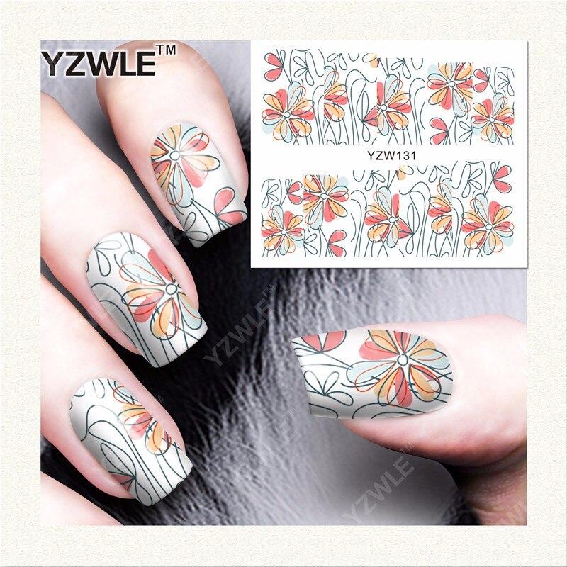 YWK 1 Sheet DIY Designer Water Transfer Nails Art Sticker / Nail ...