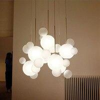 Современное 4 декоративное мыло пузырьковый светодиодный подвесной светильник Прозрачный/белый/синий/серый салон гостиничный зал люстра д