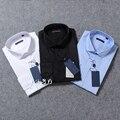 De alta calidad de Los Hombres camisa a cuadros clásicos de manga Larga camisa de vestir de los hombres de Negocios camisas formales Para Hombre ropa camisa masculina
