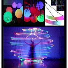 1 шт. Профессиональный Многоцветный RGB светящийся светодиодный POI бросал шары танец живота шары для танца живота ручной реквизит сценическое представление