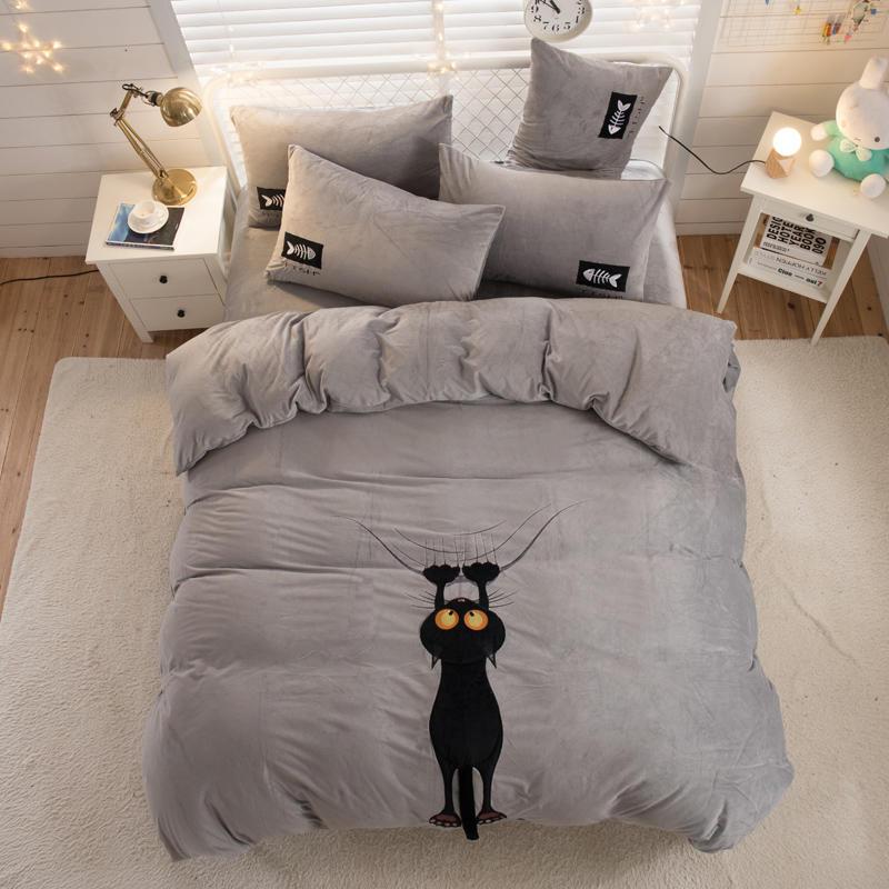 Twin Königin König Größe Fleece Bettwäsche Set Kinder Bett Set Bett