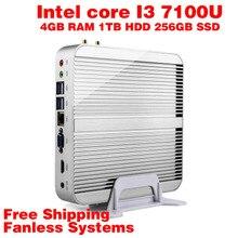 Мини-ПК Intel 7e Gen Кабы Lac Windows 10 i3 7100U 4 ГБ ОПЕРАТИВНОЙ ПАМЯТИ 1 ТБ HDD 256 ГБ SSD Графический 620 300 М Wi-Fi TV Box Бесплатная Доставка usb