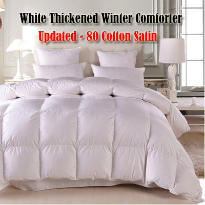 100% White Goose Down Winter Comforter Duvet dekbed Summer Doona Quilted Blanket king queen twin full Spring-autumn Quilt Cotton