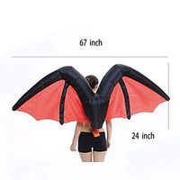 Inflatable Suit Wings Cospaly Fairy Costume Butterfly Rainbow Wing Adult Blowup Hallaween Props Hot Sale