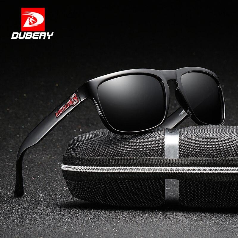 5a427fd58 DUBERY Óculos Polarizados Condução Óculos de Sol dos homens Para Os Homens  de Alta Qualidade Retro Marca De Luxo Designer de Caixa Zipper 730