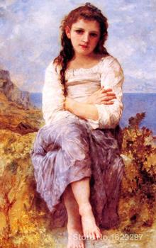 Far Niente by William Adolphe Bouguereau Canvas art Painting High quality Hand painted