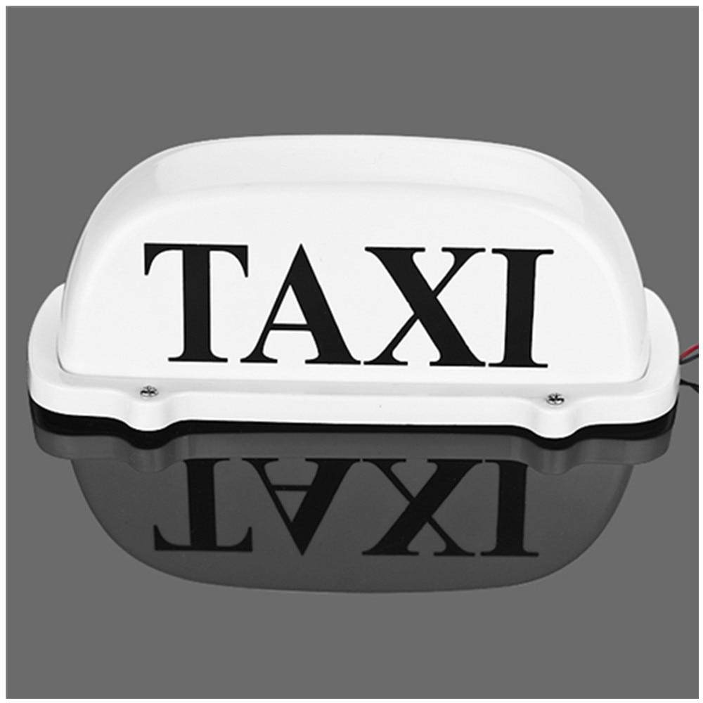 Taxi Top Light / Ny LED tak takskylt 12V med magnetisk bas vit - Bilbelysning - Foto 4