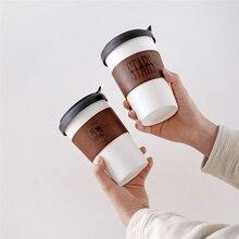 Travel Mugs Coffee-Cup Ceramic 450ML Insulated with Fashion Big