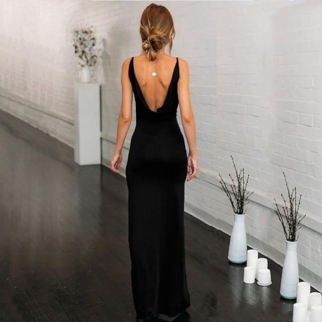 Elegant Women's Summer Dress Backless Long dress  6