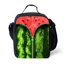 Fashionable Cute Fruit Print Lunch Bag Womens Child Insulation Lunch Box Hot Picnic Child Food Pack