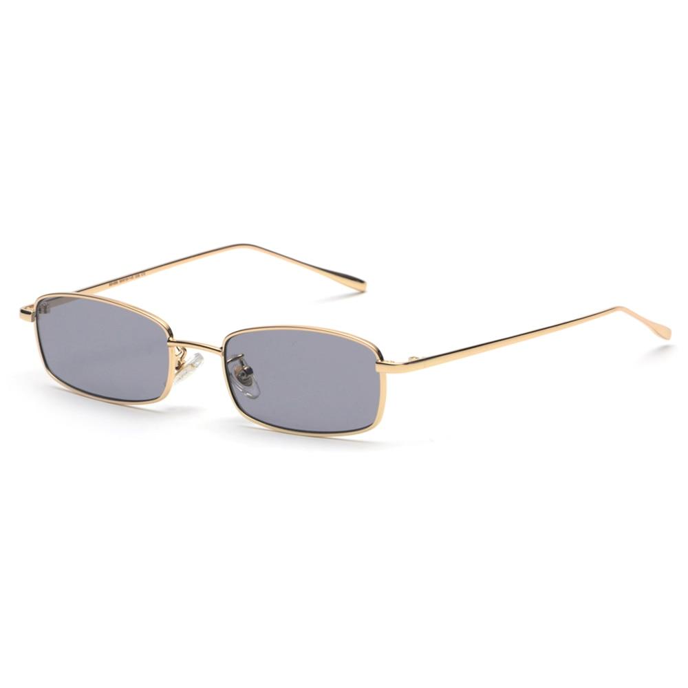 b096ea98817d8 ... Peekaboo pequeno retângulo óculos de sol dos homens lente amarela  vermelha 2019 armação de metal lente clara óculos de sol para as mulheres  unisex uv400 ...