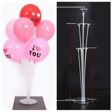 7Tubes Plastic Balloon Accessory Base Table Support Holder Column Stick Stand kids adult Happy Birthday Party Decoration