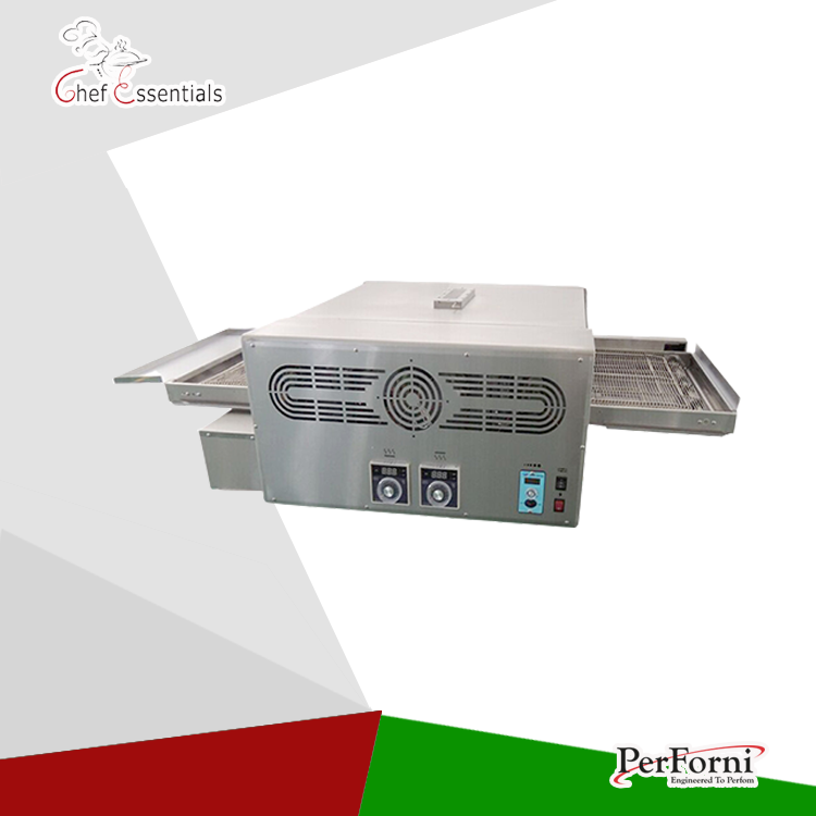 PF-GP-18 Stainless steel Gas conveyor pizza oven 18 commercial pizza machine for pizza store 2 in 1 stainless steel pizza shovel pizza scissor red silver