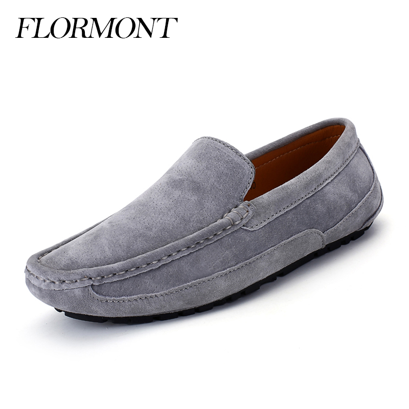 Spring Men's Casual Shoes Suede Leather Fashion Summer Platform Gommin Shoes Men Loafers Moccasins Mens Flats Male Driving Shoes 2017 new fashion summer spring men driving shoes loafers real leather boat shoes breathable male casual flats