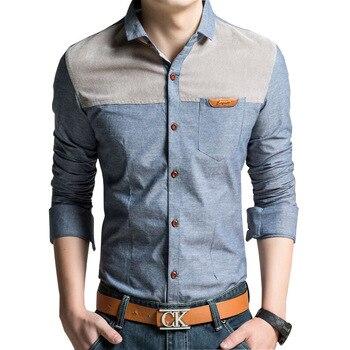 e0c4d57b73 Tamaño grande M-4XL hombres moda camisas 2018 Nueva Corea del estilo de la  vendimia