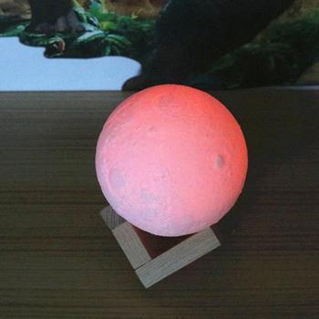 Changement De Couleur Led Ampoules   Coloré 3D Imprimer Lune Lampe Changement De Couleur Chambre Chevet Bibliothèque Décor à La Maison Cadeau Télécommande Modifiable Veilleuses