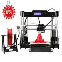 Anet A8 Самый дешевый плюс Размеры DIY 3d принтер опционный автоматический рычаг склад в США Чешский склад 22*22*24 см объем сборки Impressora 3d