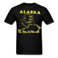 2017 casual popular Alaska, the last frontier vintage Men's T-Shirt 100% cotton male tops tee hot sell fashion O-Neck T Shirt