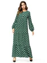 70f082bb59e 4XL плюс Размеры летнее платье 2018 Для женщин горошек печати длинный  сарафан без рукавов свободные макси мусульманин женское пл.