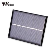 amzdeal 0.6W 3V Mini Solar Panels Battery Charger Polycrystalline Small Solar Cells Sun Power Charger DIY Module 60*75MM