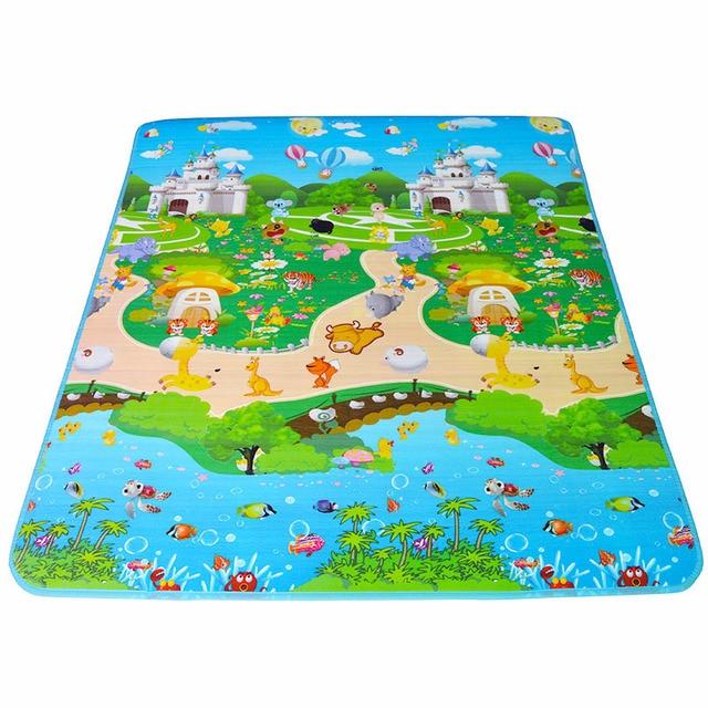 Tapis de jeu bébé tapis EVA 180*150*1 cm Double face bébé tapis de ...