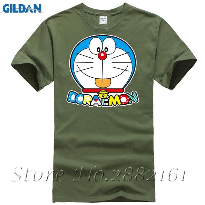 2017 New Fashion Japan Anime Mens Doraemon Cute Printed Mens Short Sleeve T-Shirt 100% Cotton Cartoon Tees Causal Clothing