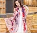 2015 Primavera Inverno scarf shawl Wrap mulheres longo de seda de algodão quente Jornal Bandeira REINO UNIDO Imprimir feminino cachecol feminino foulard femme