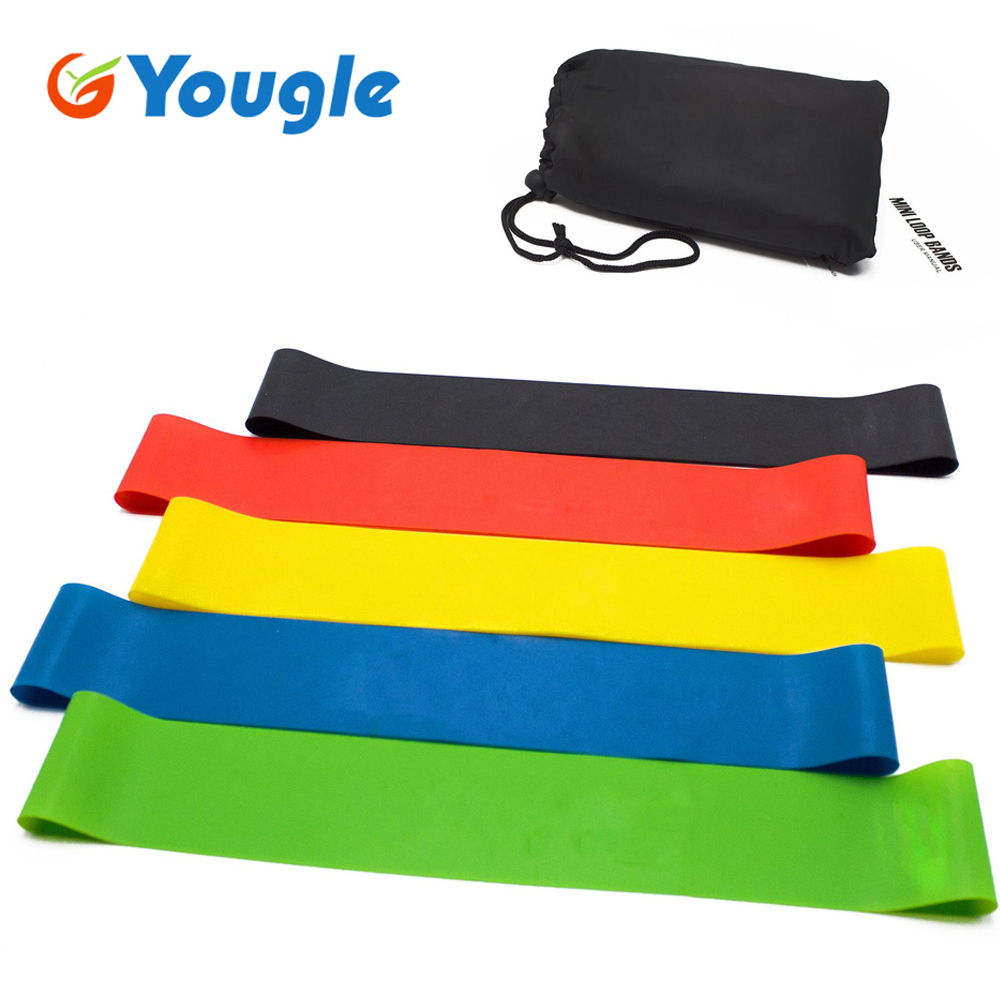 5 Pcs/Set Resistance Band Levels Latex Strength Training Loops Workout Fitness